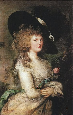 1787 in art - Image: Thomas Gainsborough Lady Georgiana Cavendish