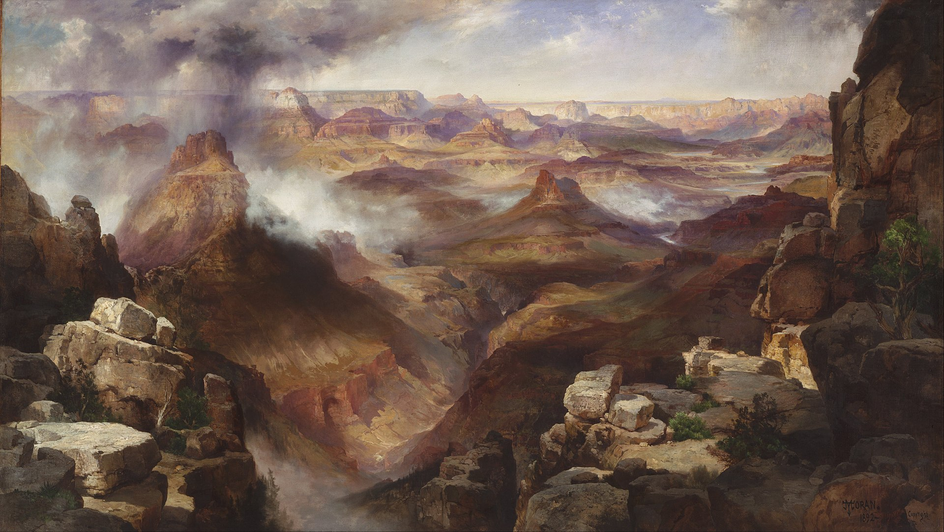 landscape American painter Thomas Moran