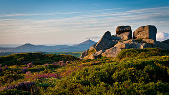 County Dublin - Three Rock Mountain, Dublin, Ireland looking towards Bray Head