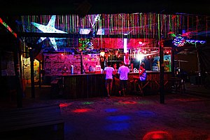 Last call (bar term) - A night club closing time is bound by prevailing laws.