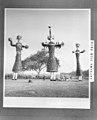 Three effigies representing Ravan, his son Meghnath, and his brother Kumbhkarna 1949.jpg