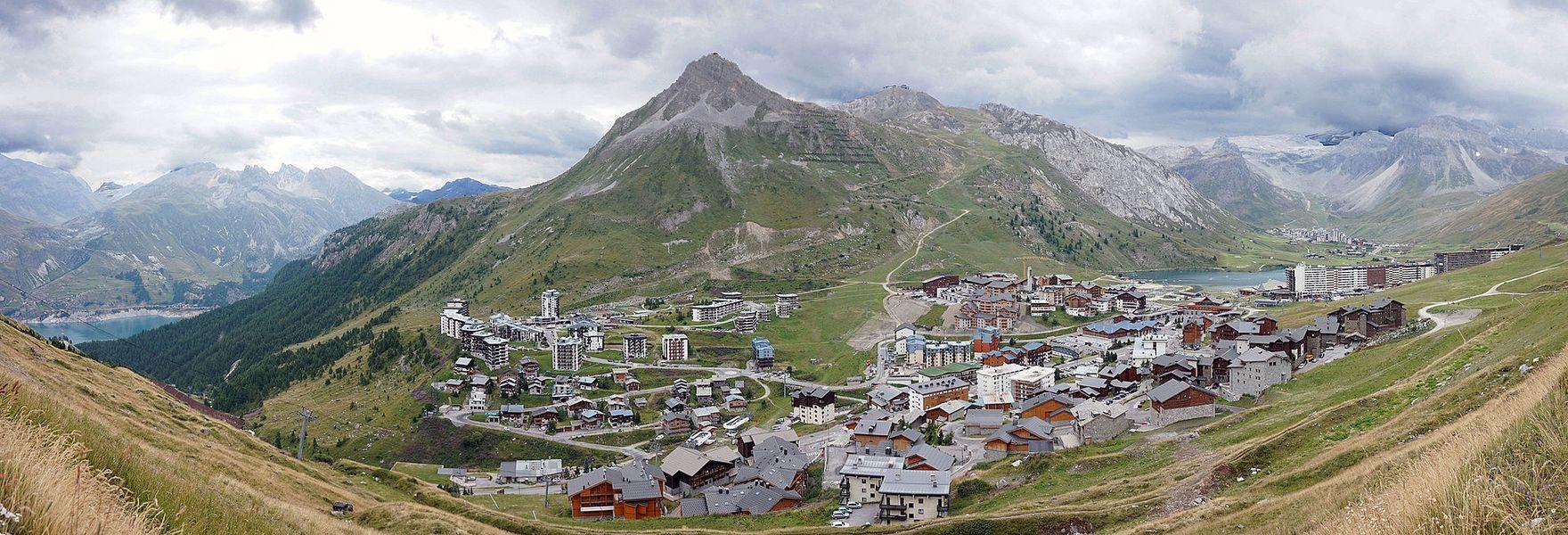 View to Tignes and Grande Motte.
