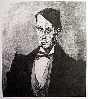 Dezső Kosztolányi - Portrait by Lajos Tihanyi from 1914
