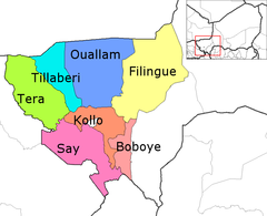 Tillaberi Arrondissements.png