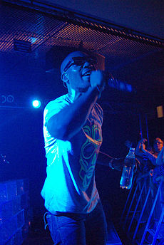 Tinie Tempah, who achieved 'Best British Single' and 'Best British Breakthrough Act', as well as singing 'Written in the Stars / Miami 2 Ibiza / Pass Out' alongside Eric Turner and Labrinth, performing in 2010. Image: Göteborg & Co.