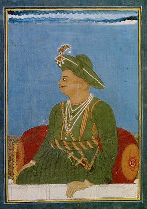 Kingdom of Mysore - A portrait of Tipu Sultan, made during the Third Anglo-Mysore War.