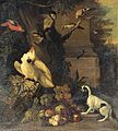 Tobias Stranover - A Monkey, a Dog and Various Birds in a Landscape - WGA21874.jpg