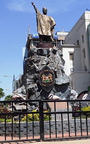 Tom Mboya - A monument in honor of Tom Mboya erected at Moi Avenue, Nairobi