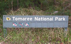 Tomaree National Park - Sign identifying the park