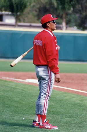 Tony Pérez - Perez managing the Cincinnati Reds during Spring Training in 1993 in Bradenton, Florida