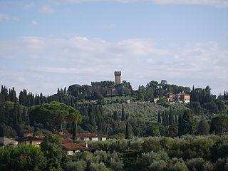 Arcetri human settlement in Italy