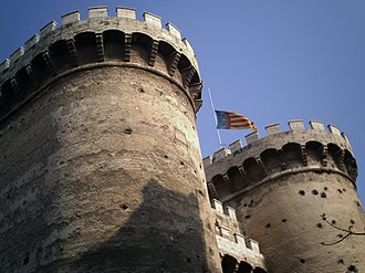 Flag of the Valencian Community - Image: Torres de Quart 2