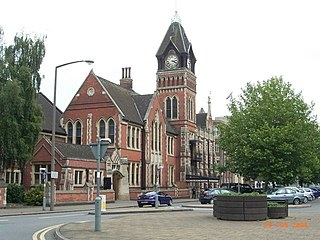 Burton upon Trent town in East Staffordshire, England