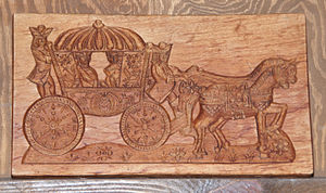 Toruń gingerbread - Example of a wooden gingerbread mold