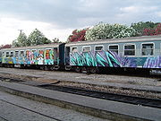Graffiti on a train, Greece