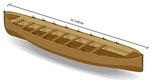 Trainera - Illustration of a rowing fishing trainera