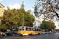 Tram in Sofia near Macedonia place 2012 PD 060.jpg