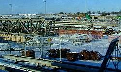 Tram track works at Gogar (geograph 2230680).jpg