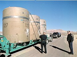 Radioaktivt avfall på väg till Carlsbad, New Mexico