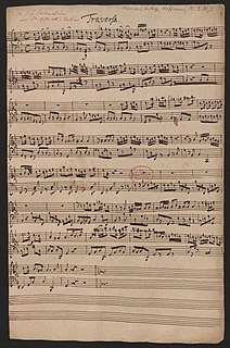 Magnificat in A minor (Hoffmann) Vocal composition by Melchior Hoffmann of the Song of Mary from the Gospel of Luke