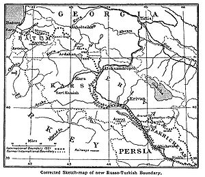 Treaty of Kars - The frontier established in the Treaty of Kars