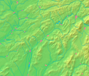Púchov - Image: Trenčín Region background map