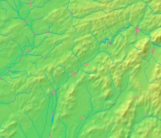 Veľké Uherce - Image: Trenčín Region background map