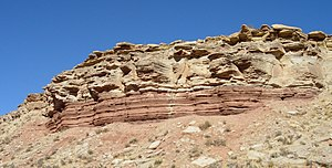 Sedimentology - Middle Triassic marginal marine sequence of siltstones and sandstones, southwestern Utah.