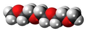 Triethylene glycol dimethyl ether - Image: Triglyme 3D spacefill