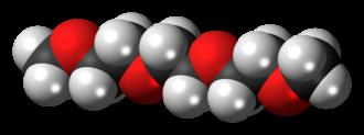 Triethylene glycol dimethyl ether - Image: Triglyme 3D spacefill