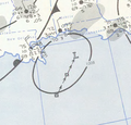 Tropical Storm Debbie analysis 8 Sep 1957.png