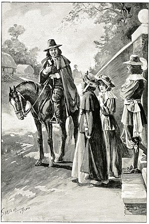 Agnes Beaumont - much later illustration of her and John Bunyan