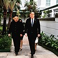 Trump and Kim walking to Metropole Hotel, before the meeting on the Second Day.jpg