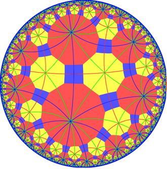 Truncated tetraoctagonal tiling - Image: Truncated tetraoctagonal tiling with mirrors