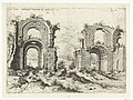 Tweede gezicht op de Thermen van Diocletianus Ex Rvinis Thermarvm Antonini Pii (titel op object) Romeinse ruïnes (serietitel), RP-P-1882-A-6454.jpg
