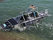 Das Sharkproject U-Boot SOV II bei einer Testfahrt im Bodensee