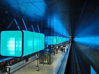 HafenCity Universität (Hamburg U-Bahn station) - Image: U4 Hafen City Universität (blau)