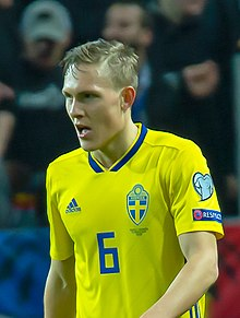 UEFA EURO qualifiers Sweden vs Romaina 20190323 Ludwig Augustinsson 2 (cropped).jpg