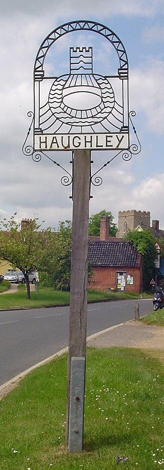 Haughley - Signpost in Haughley