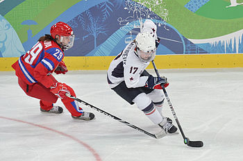 English: Women's Hockey, USA vs Russia, 2010 V...