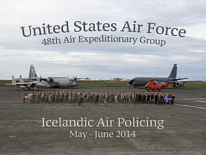 Naval Air Station Keflavik - Icelandic Air Policing 2014 (USAFE-AFAFE group photo).