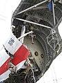 USAir 1549(機体番号N106US)」調査後の機体の後部.jpg