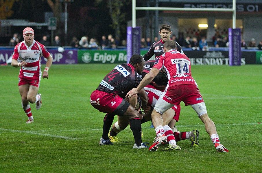 USO-Gloucester Rugby - 20141025 - Action de jeu
