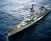 USS Bausell (DD-845) as target ship 1982