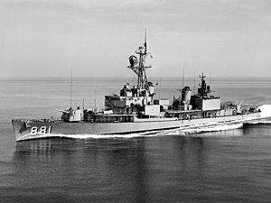 USS Bordelon (DD-881) underway at sea on 20 July 1964 (NH 106988)