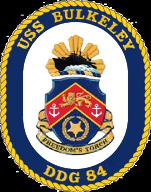 USS Bulkeley (DDG-84) - Image: USS Bulkeley DDG 84 Crest