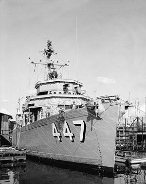 USS Guide (AM-447) - Guide in 1954.