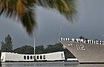USS Michael Murphy renders honors to the USS Arizona Memorial. (8264510732).jpg