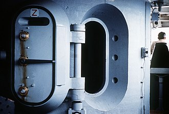Safe room - Citadel door on the USS New Jersey