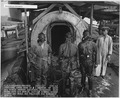 USS Oklahoma- Salvage, 12-11-42, 5351-42, Personnel after work in ^2 section of main air bubble showing equipment... - NARA - 296925.tif
